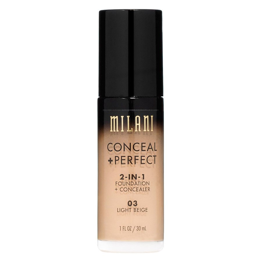 Milani Conceal & Perfect 2-In-1 Foundation + Concealer, Light Beige (30 ml)