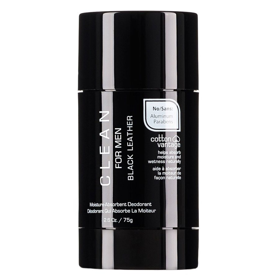 CLEAN Black Leather For Men Deodorant Stick (75 g)