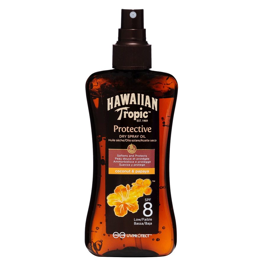Hawaiian Tropic Protective Dry Oil Spray LSF8 (200 ml)