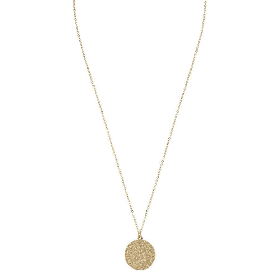 SNÖ of Sweden Penny Coin Pendant Neck Plain Gold 42cm