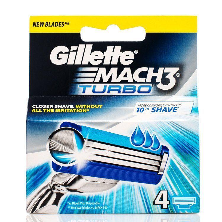 Gillette Mach 3 Turbo (4 Klingen)