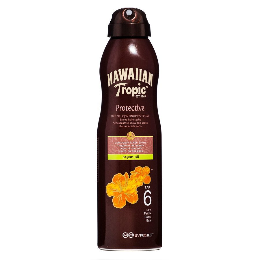 Hawaiian Tropic Protective Dry Oil Continuous Spray LSF 6 (177 ml)