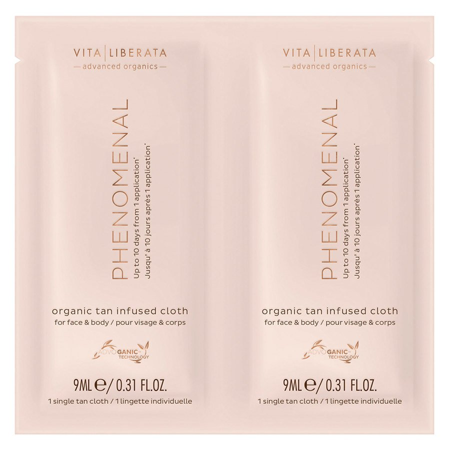 Vita Liberata Phenomenal Organic Tan Infused Cloths (4x9 ml)