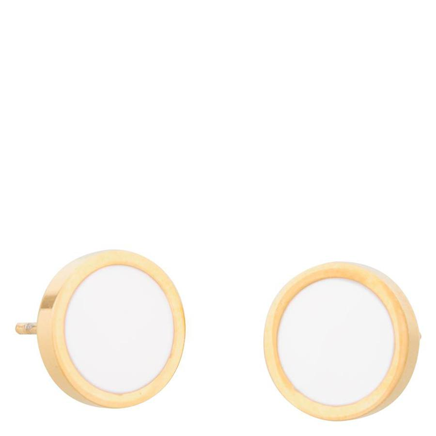Snö Of Sweden Palermo Earring, Gold And White