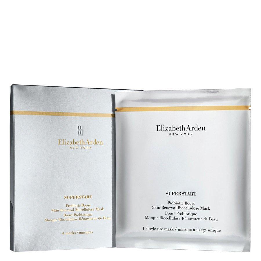 Elizabeth Arden Superstart Probiotic Boost Skin Renewal Biocellulose Mask (4Stück)