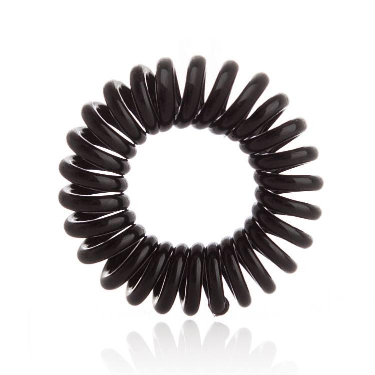 Invisibobble 3 Traceless Hair Rings, True Black