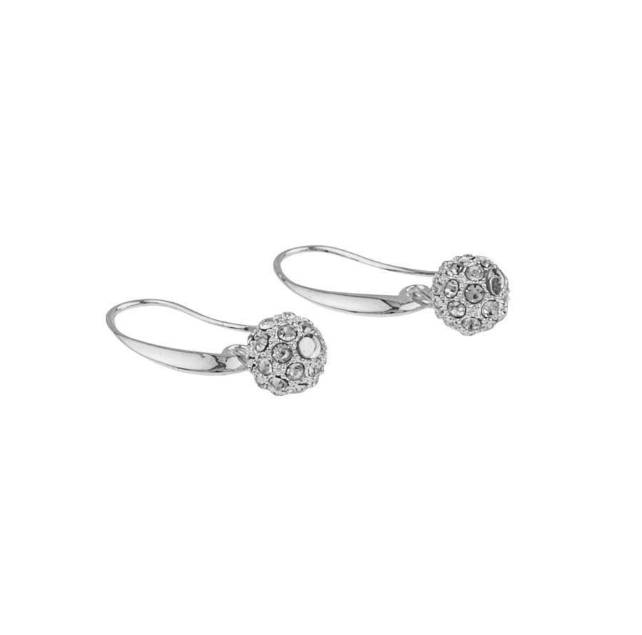 Snö Of Sweden Mysk Earring, Silver/Clear