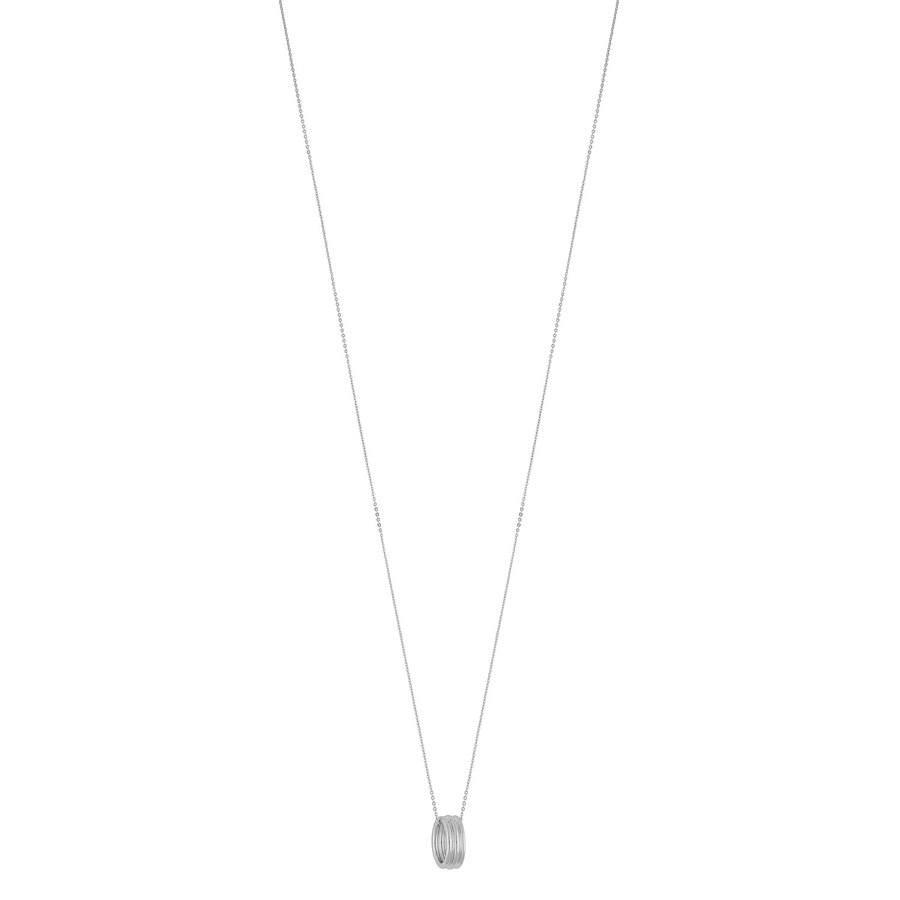 SNÖ of Sweden Helena Small Pendant Neck Plain Silver 80cm