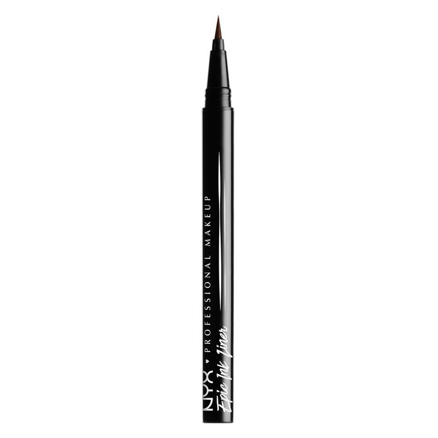 NYX Professional Makeup Epic Ink Liner, Brown (1 ml)