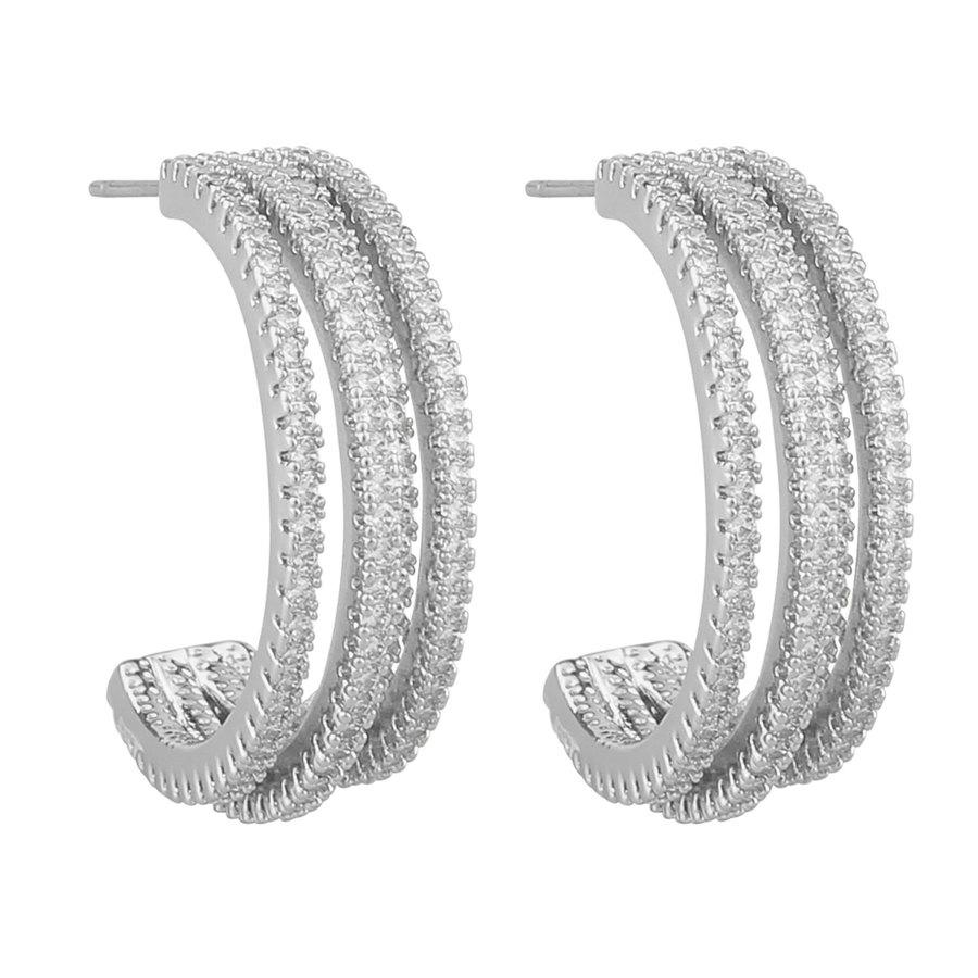 Snö Of Sweden Clarissa Wide Oval Ear silver / clear