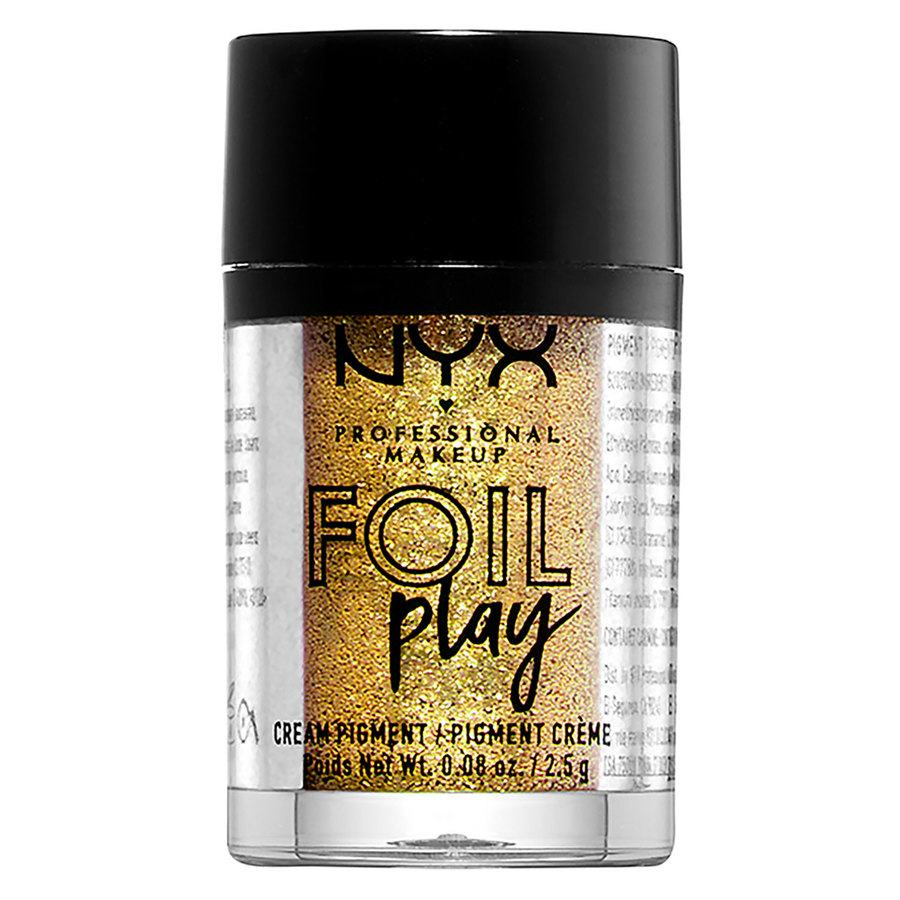 NYX Professional Makeup Foil Play Cream Pigment, Shade 08 Golden (2,5 g)