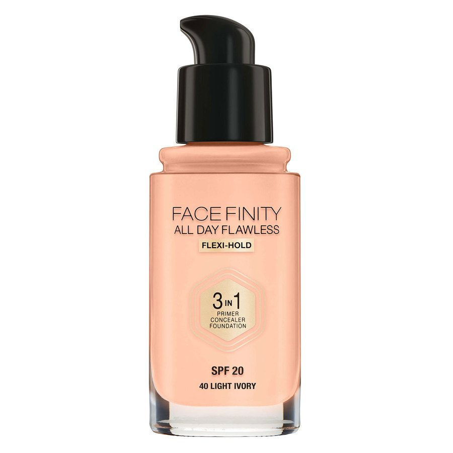 Max Factor Facefinity 3 In 1 Foundation, 40 Light Ivory (30 ml)