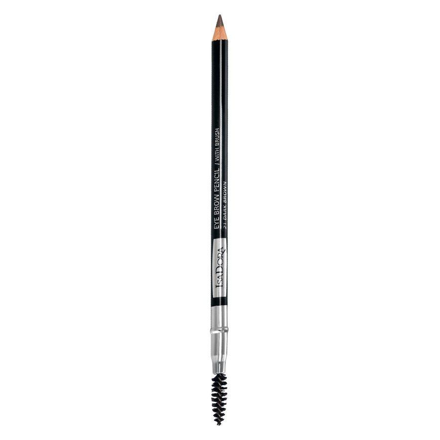 IsaDora Eyebrow Pencil, 21 Dark Brown (1,3 g)