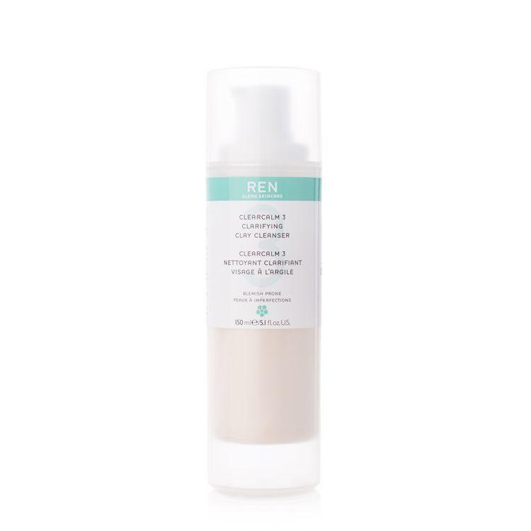 REN Clearcalm 3 Clarifying Clay Cleanser Gesichtsreiniger (150 ml)