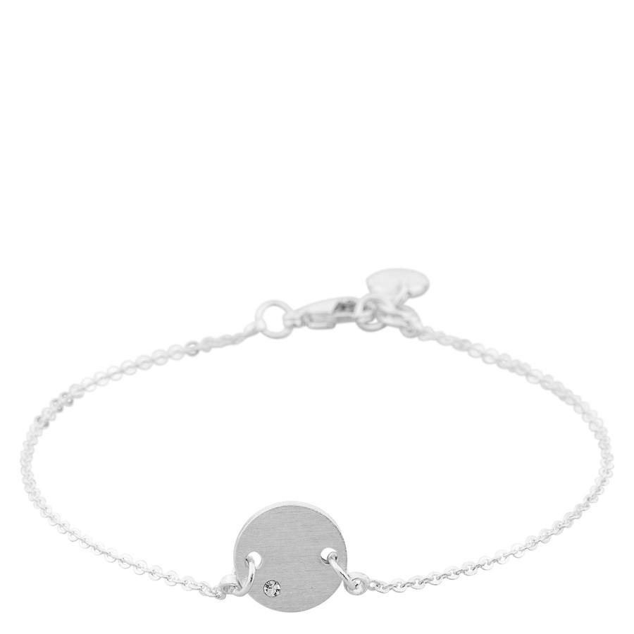 Snö Of Sweden Elin Small Chain Bracelet, Silver/Clear
