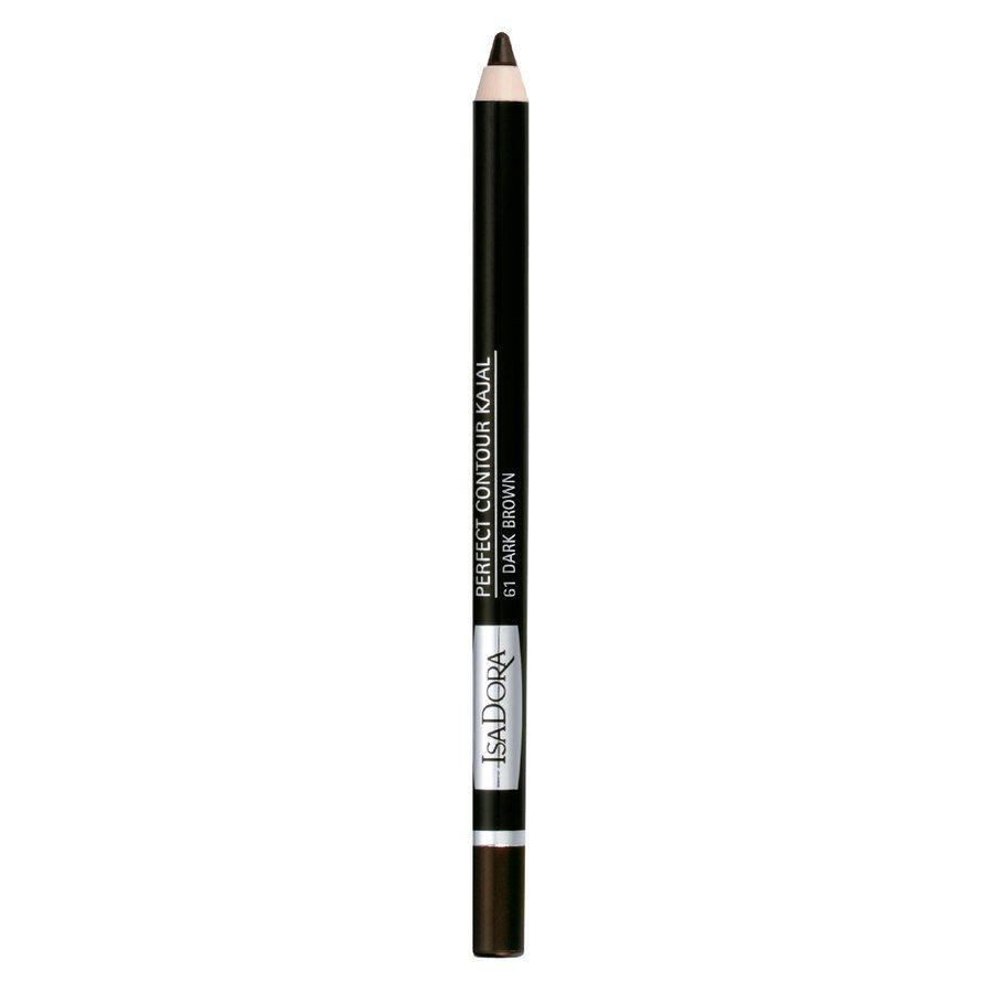 IsaDora Perfect Eye Contour Kajal, 61 Dark Brown (1,3 g)