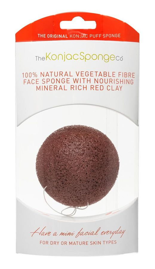 Konjac Facial Puff Sponge, French Red Clay