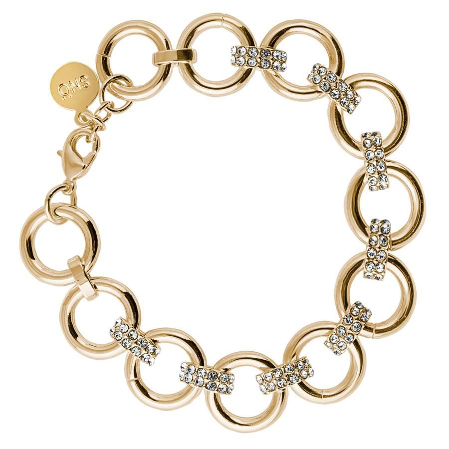 Snö of Sweden Adara Bracelet, Gold/Clear
