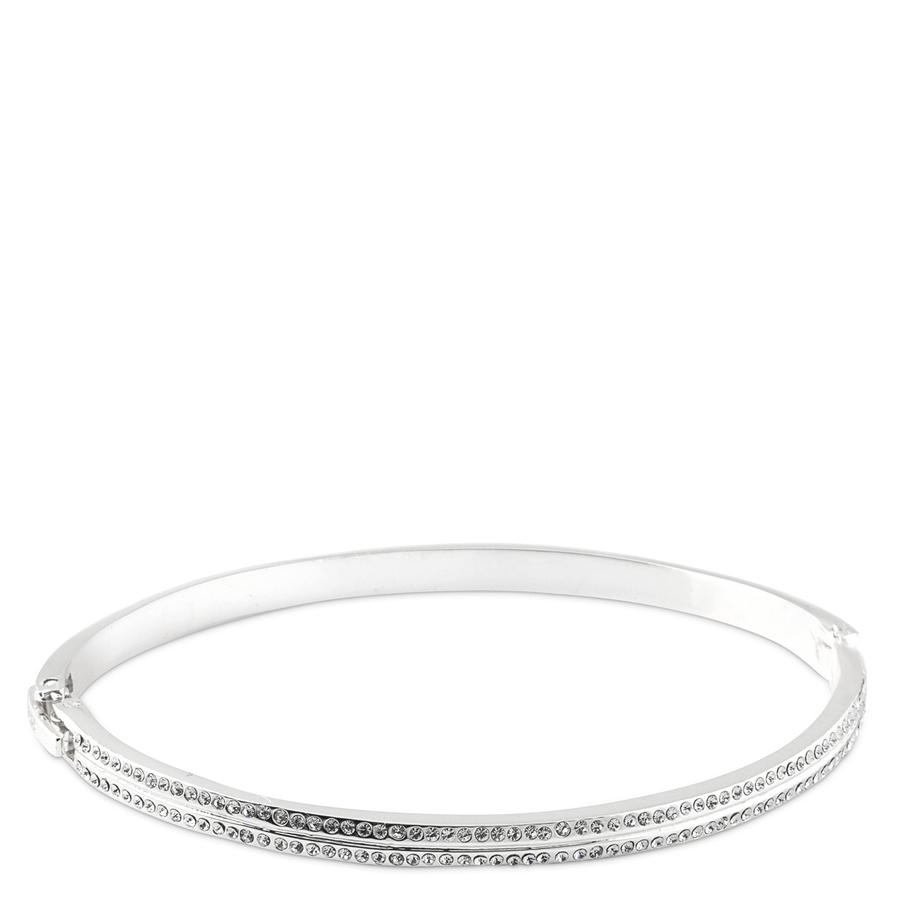 Snö of Sweden Carrie Oval Bracelet, Silver/Clear