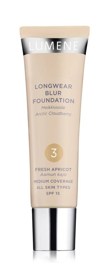 Lumene Longwear Blur Foundation LSF 15 (30 ml), 3 Fresh Apricot