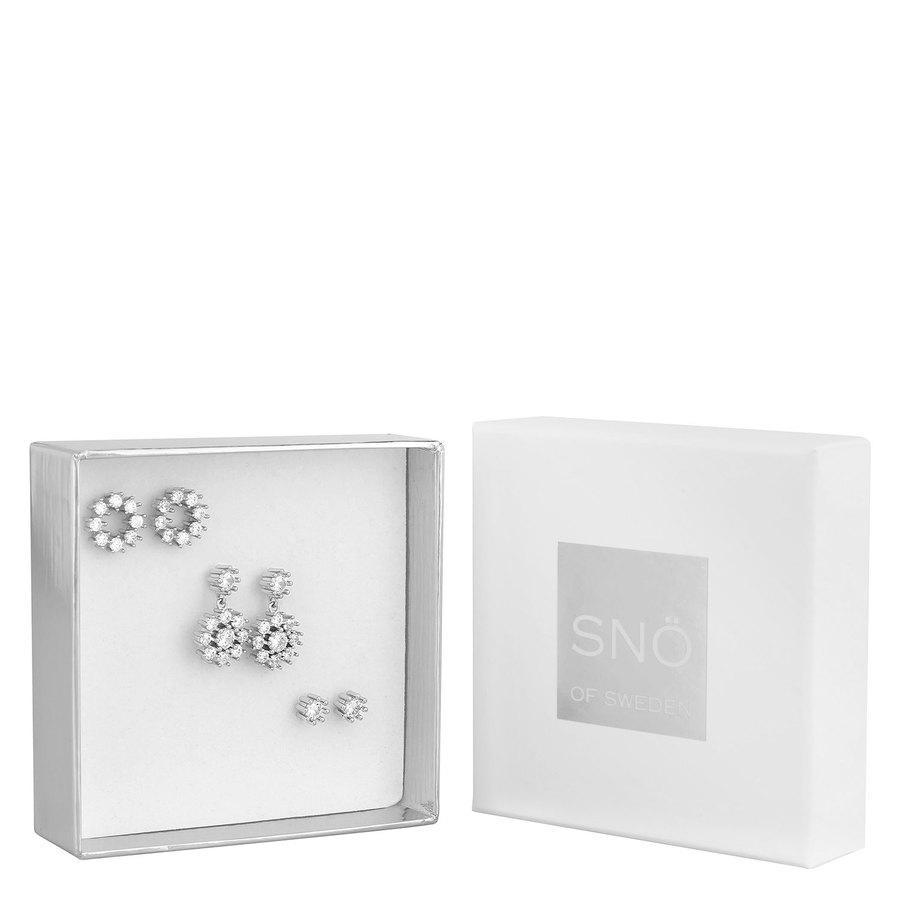 Snö of Sweden Crystal Vintage Ear Set, Silver / Clear