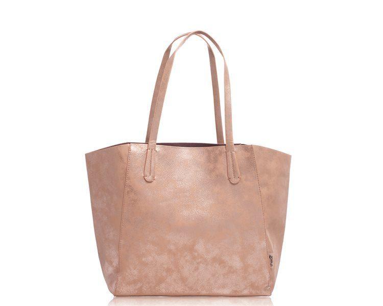 Shelas Canvas-Tasche, Metallic-Champagnerfarben