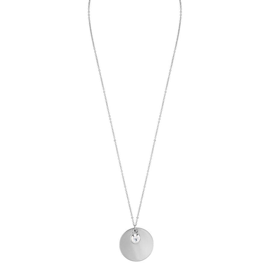 Snö of Sweden Caroline Pendant Necklace, Silver/Clear (42 cm)
