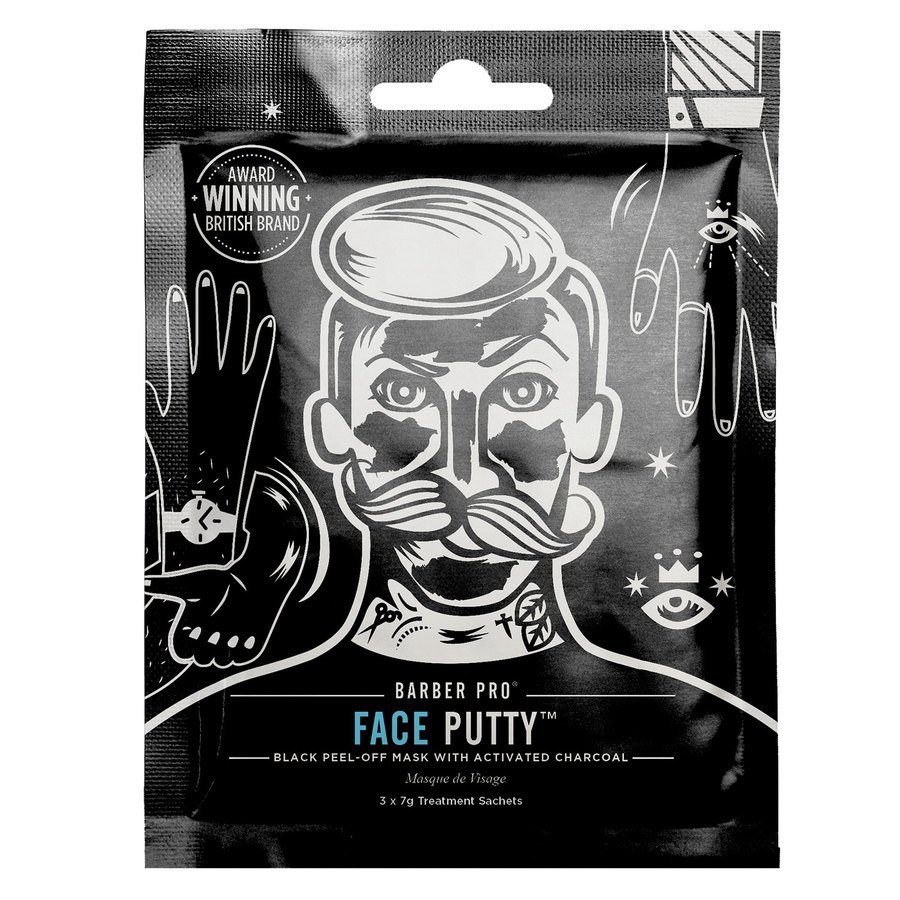 Barber Pro Face Putty Peel-Off Mask 3in1