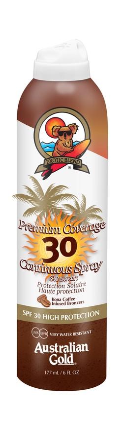 Australian Gold Premium Coverage Continuous Spray With Bronzer SPF 30 (177 ml)