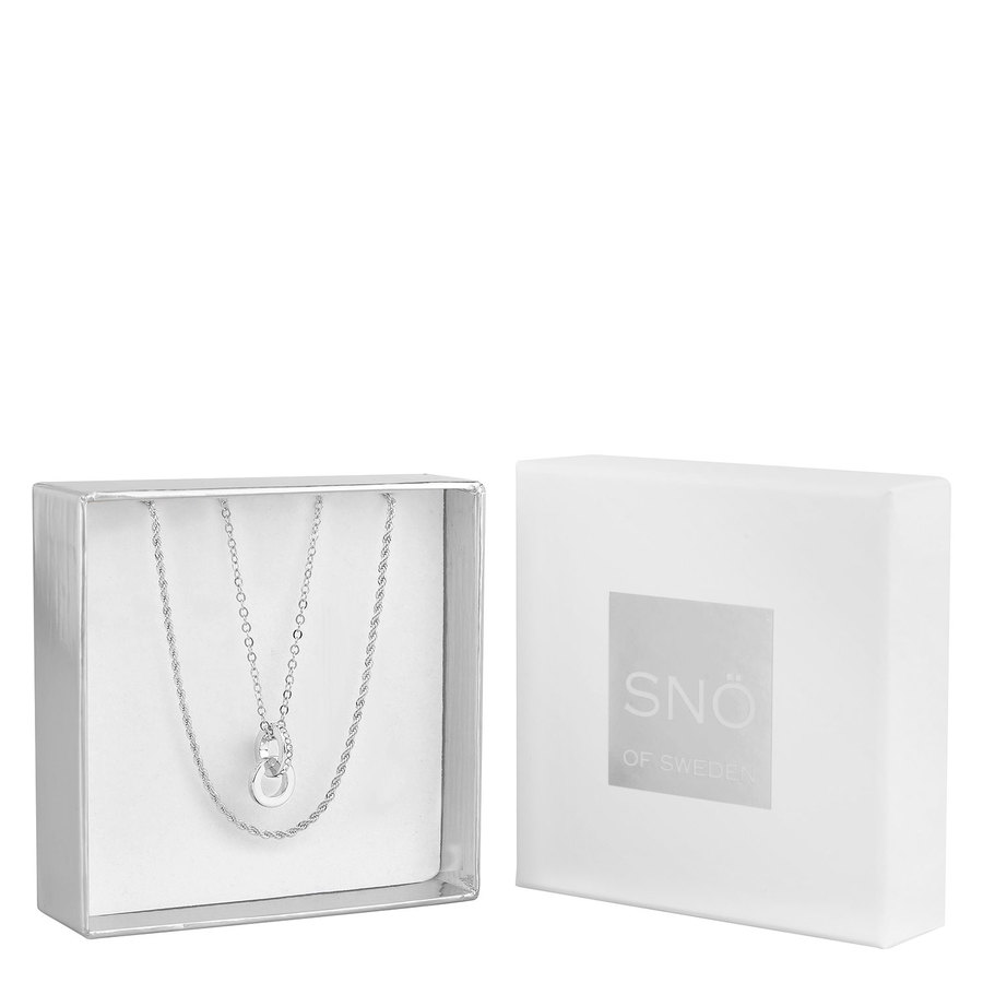 Snö of Sweden Crystal Royal Pendant Necklace Set, Silver / Clear