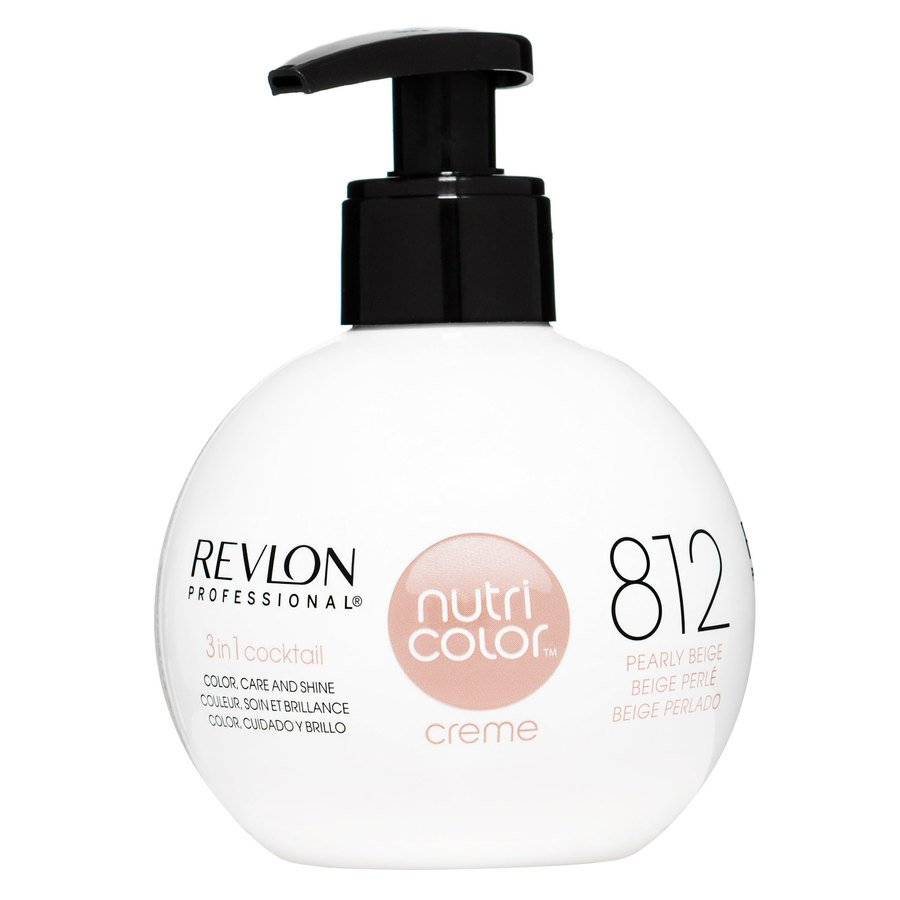 Revlon Professional Nutri Color Creme, #812 Light Pearly Beige Blonde (270 ml)