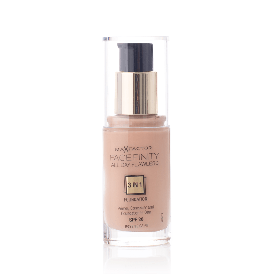 Max Factor Facefinity 3 In 1 Foundation, 65 Beige Rose (30 ml)