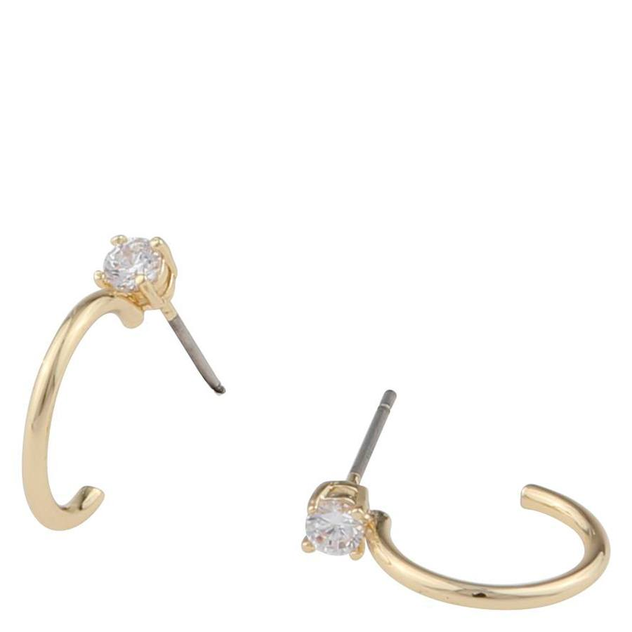 Snö Of Sweden Duo Small Ring Earring, Gold/Clear