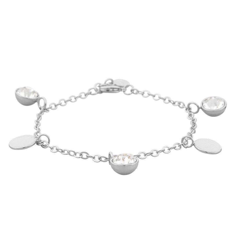 Snö of Sweden Caroline Charm Bracelet, Silver/Clear