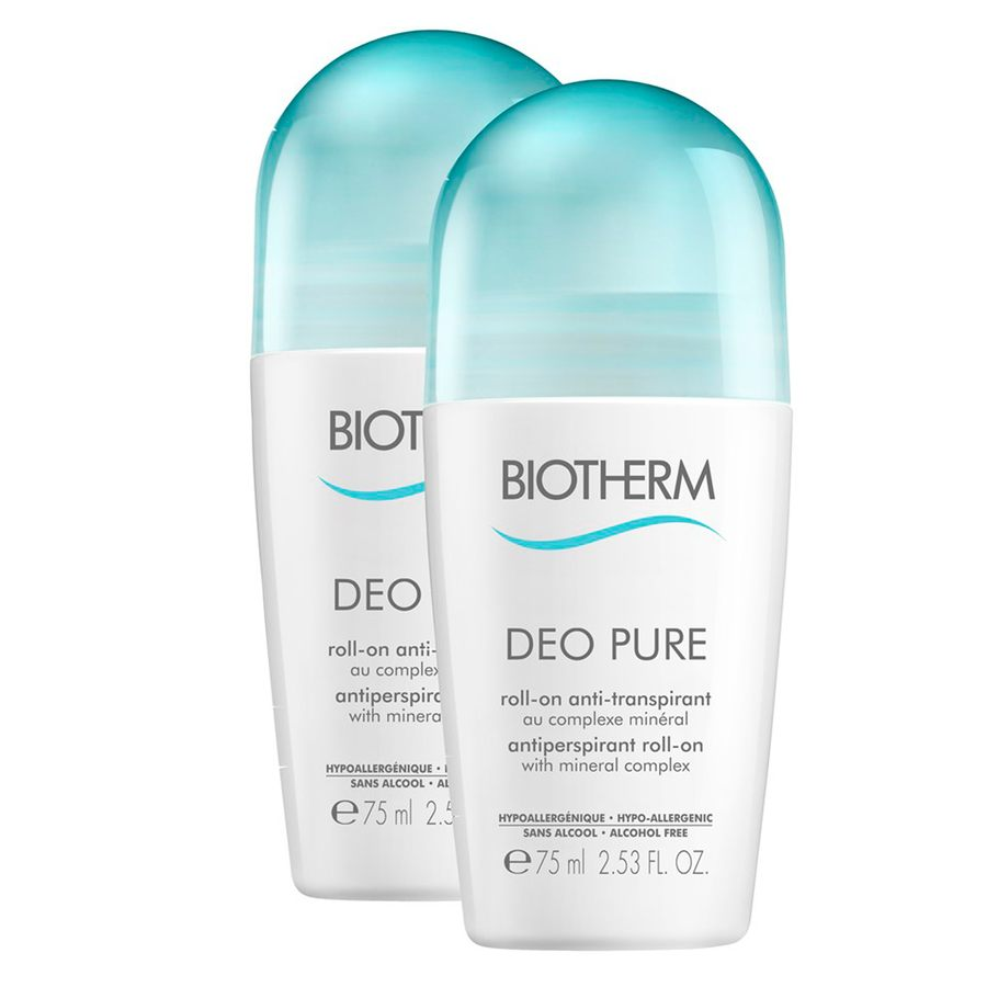 Biotherm Deodorants Duo Sleeve Pure Deo Roll-On Set (2 x 75 ml)