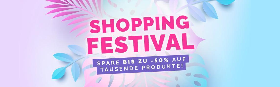 Shopping Festival! Spare bis zu -50% auf tausende produkte!