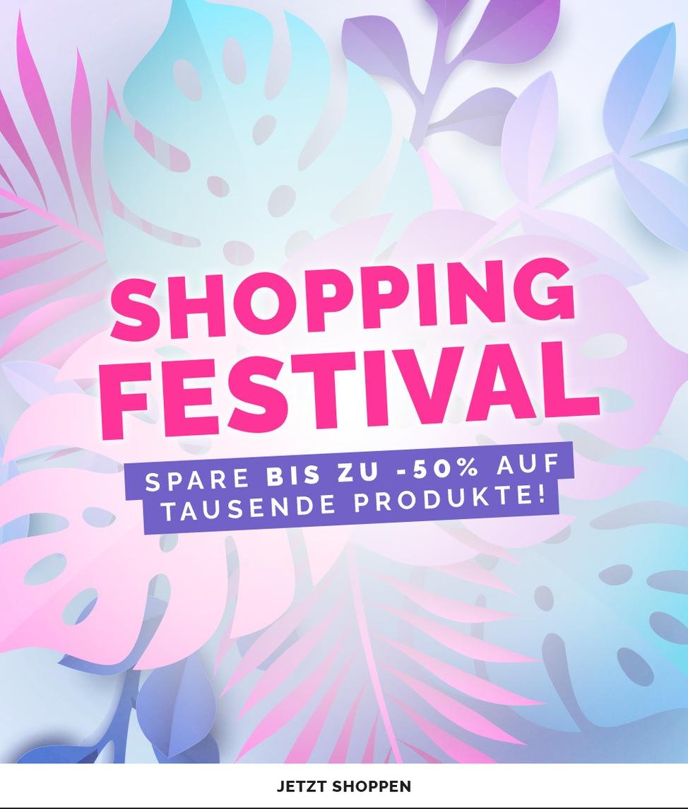 Shopping Festival - Spare bis zu -50% auf tausende produkte!